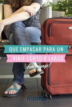 Que empacar para un viaje corto o largo. Recuerda: llevar ropa de más es tan molesto como llevar de menos.