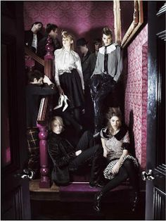Mario Testino Young London - The one fashion spread that made me fall in love with fashion photography and love being British Agyness Deyn, Mario Testino, I Fall In Love, Terrier, Fashion Photography, Goth, Vogue, London, Chic