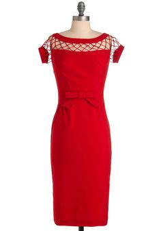 Retro Mad Men Red Dress