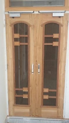 new door desiogn gallery Wooden Front Door Design, Wooden Front Doors, Latest Door Designs, Steel Railing Design, Door Design Images, Home Entrance Decor, House Ceiling Design, Door Design Interior, Gate Design