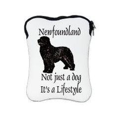 Newfoundland Dog iPad Sleeve