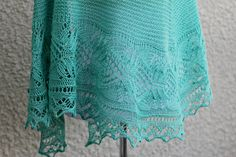 This hand knit #shawl is made of 100% wool in lovely mint green color. The shawl is half-circle shape and perfectly wide to wrap around the body. Laced edge adds feminine lo... #kgthreads #accessories #elegant #fashion #handknit #handknitted #knitting #lace #stole