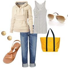 Nice weekend outfit... And replace the sweater with a cardigan for the work week (if your job allows jeans obviously)