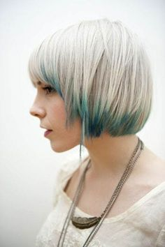 Blonde and blue hairstyles