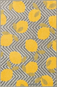 Tilley HTI 05 Grey / Yellow Rug