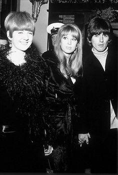 Cilla Black, Pattie Boyd and George Harrison