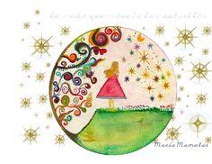 La Niña que Miraba las Estrellas  Cuento infantil escrito e ilustrado por María Mamolar López