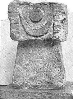 pre islamic sun moon symbol in arabia derived from sanskrit