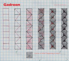Gadroon-Tangle Pattern by molossus, who says Life Imitates Doodles, via Flickr