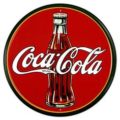 """Coca-Cola - """"On May a pharmacist named Dr. John Pemberton carried a jug of Coca-Cola® syrup to Jacobs' Pharmacy in downtown Atlanta, where it was mixed with carbonated water and sold for five cents a glass."""" - Source: The Coca-Cola Company - Heritage Coca Cola Vintage, Pepsi, Coke Ad, Tin Signs, Metal Signs, Wall Signs, Coca Cola Poster, Coca Cola Cake, Vintage Signs"""