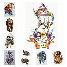 Yan & Lei Temporary Tattoo Sticker Sets-F