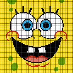 SpongeBob SquarePants (Chart/Graph AND Row-by-Row Written Crochet Instructions) - 02- <p>This crochet graphghan pattern is 150 x 150 squares, and comes with the written row-by-row instructions as well as the graph/chart. You do NOT have to know how to follow a graph to crochet this! There are also tips included to help you with your project.</p> <p>Color names are <em>suggestions only</em>, and do not refer to any particular brand of yarn. The size of the blanket will depend on your…
