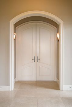 Arched Interior Door Withing Rectangular Frame Image