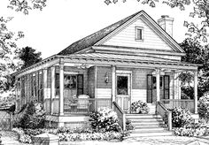 Looking for the best house plans? Check out the Old Pond Place plan from Southern Living. Southern Living House Plans, Cottage House Plans, Cottage Homes, Southern Cottage, Cottage Living, Coastal Living, Small Cottages, Cabins And Cottages, Beach Cottages