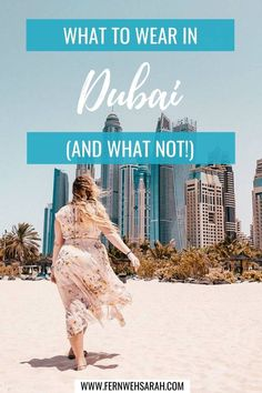 An outfit guide to what to wear in Dubai as a woman - at the beach, to a desert safari or to the mosque. Casual dresses for the day or stylish outfits for the evening - unlock the Dubai dress code with this style guide!  #dubaioutfitsforwoman #dubaiwhattowearin #whattoweartodubai #dubaidressingstyle #dubaidresscode #dubaitravel #dubaidresses #dubaipackinglist #dubaioutfitsmodest