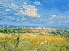 Irish Artist Colin CARRUTHERS - Fields in Summer