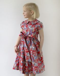Love this dress for Tessa.  Look for a similar fabric and pattern. Christina Dress (Kayce Hughes: Pears + Bears)