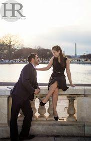 Romantic Washington DC engagement photos #engagement #photography