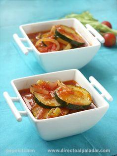 Otra de las recetas que he traído de mi reciente viaje por Italia es esta receta de zucchini al pomodoro, calabacines con tomate y apio, una forma...