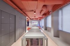 PENSON have collaborated with Great Ormond Street Hospital to deliver a space dedicated to accelerated research and evaluation of new AI-enabled technology. Hospital Design, Table Seating, Design Projects, Collaboration, Interior Design, Ceiling, Kitchen, Nest Design, Ceilings