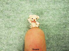 Extreme Micro Bear  Tiny Dollhouse Miniature Animals  1/2 by suami, $85.00
