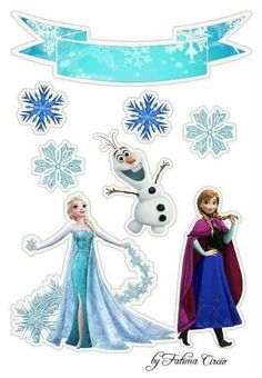 Frozen Cupcake Toppers, Frozen Cupcakes, Frozen Cake Topper, Birthday Cake Toppers, Frozen Birthday Party, Frozen Theme Party, Happy Birthday, Bolo Frozen, Frozen Decorations