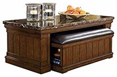 Ashley Furniture Signature Design – Merihill Coffee Table – Rectangular – Medium Brown