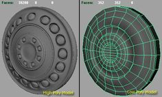Normal Map in Maya to create low poly 3d model for 3d game with high quality render look - Autodesk Maya Tutorials. Originally published in http://vfxconsultancy.com