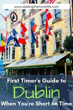 See our travel guide to Dublin as a first-timer. 1-3 day itineraries for your visit to Dublin | Dublin, Ireland destination travel. #dublin #ireland #destinationireland #travel