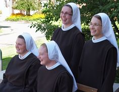 Welcome to the community (left to right) Sr Mary Grace, Sr M Ignatia, Sr M Lucia, and Sr Maria Faustina.