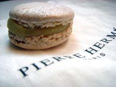 Le macaron truffle blanche_    The White truffle Macaron from Pierre Hermé, is part of his fall collection of désires. From the first bite, this little cookie of almond-enriched meringue reveals sweet and reassuring buttercream…then the disconcerting jolt of musky, earthy white truffles. Nestled inside is a dry-roasted nugget of crunchy Piedmontese hazelnut, whose flavor provokes you into realizing that this combination of sweet and savory is surely the work of brilliance.