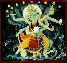 Vishnu Lakshmi #hindu #art #vishnu #lakshmi