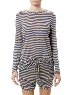 BECKLEY by Melissa - Long Sleeve Striped Knit Top | VAULT. Get the Prison look...