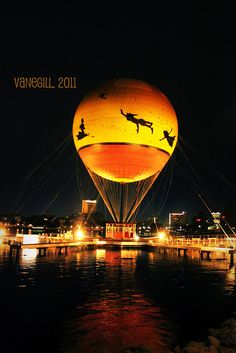 One day i will visit disneyworld Peter Pan hot ballon at Downtown Disney, Orlando