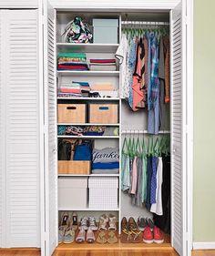 Bedroom closet organization.