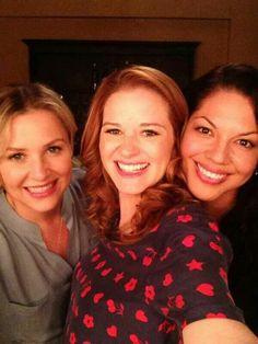 Jessica Capshaw, Sara Drew and Sara Ramirez. #Grey'sAnatomy