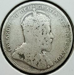Rare 1908 Canada Quarter .925 Silver Coin King Edward VII 495,016 Minted KM#11 H  Price : $12.00  Ends on : 3 weeks Order Now