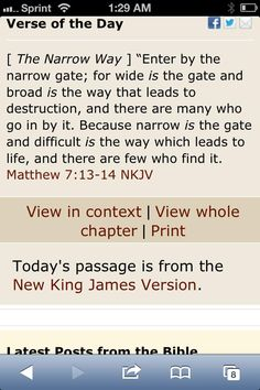 will you pass through the narrow gate(s)?