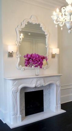 How to design a romantic room www.livelyupyours.com #romanticroom #interior design #shabbychic #fireplace