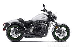 2015 Kawasaki Vulcan S, ABS model - studio right-side view (Pearl Crystal White). 650cc parallel twin.