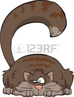 Chat gris sur un fond blanc illustration vectorielle