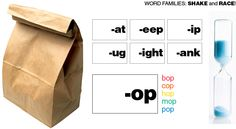 Word Families - Shake and Race