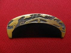 Excellent Vintage Japanese Lacquerware Hair Comb Makie 4 | eBay