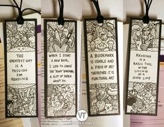 Doodle bookmarks with the great quotes~ **The first bookmark is SOLD.** If interested in one of the bookmarks for your book instead of e-book or ibook, note me. OR you can tell me what you like me ...