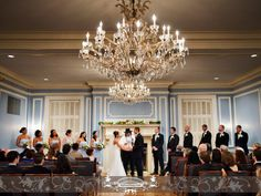 Wedding at the Madison Club in front of the fire place. #MadisonClub #Weddings