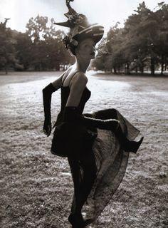 """""""Time For Change"""": Linda Evangelista photographed by Steven Meisel for Vogue US, October 1992"""