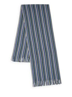 MISSONI Thin Striped Knit Scarf. #missoni #scarf