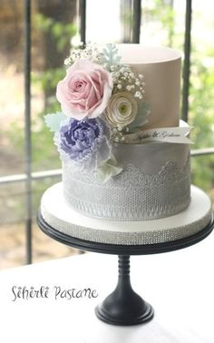 Lilac Peony Cake by Sihirli Pastane