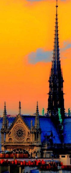 ღღ Notre Dame Spires, Paris