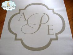 Classic monogram aisle runner www.starrynightdesignstudio.com #weddings #aisle runners #monograms